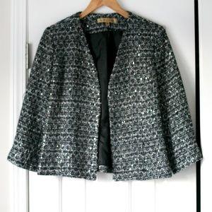 Nipon Boutique sparkle tweed blazer jacket